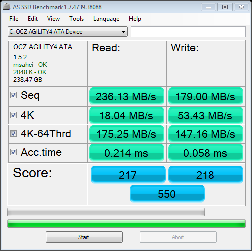 AS SSD Benchmark After Alignment